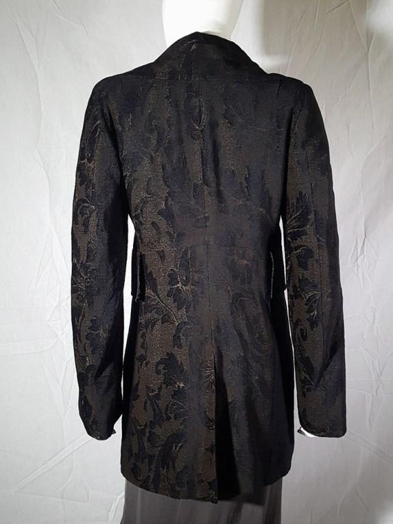 Ann Demeulemeester brown brocade coat — fall 1994