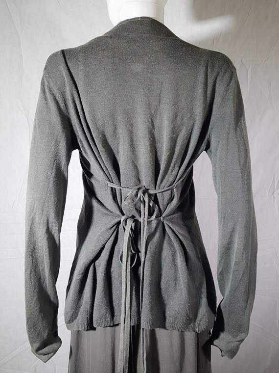 vintage Ann Demeulemeester grey cardigan with back straps 175003(0)