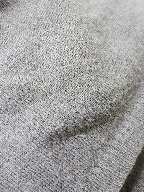 vintage Ann Demeulemeester grey cardigan with back straps 175305(0)