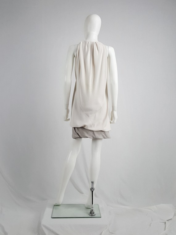 Rick Owens NASKA white long gathered top — spring 2012
