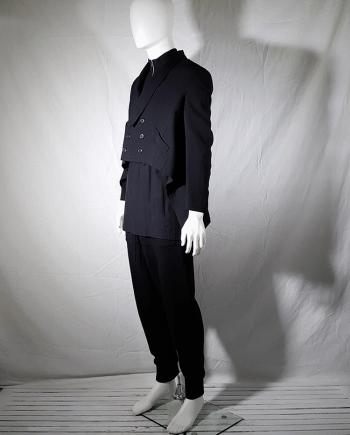 Y's Yohji Yamamoto black blazer with long back — 80's