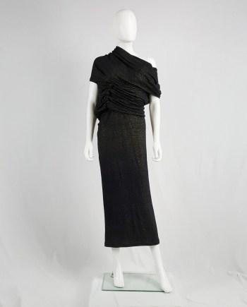 Junya Watanabe black gold deformed dress — fall 2009