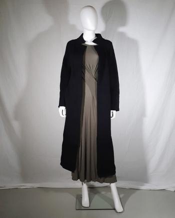 Y's Yohji Yamamoto black maxi length cardigan