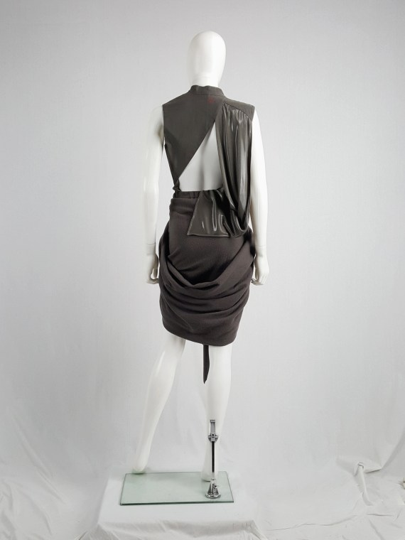 Haider Ackermann brown draped skirt — fall 2009
