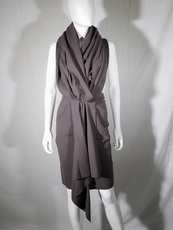vintage Haider Ackermann brown draped dress or skirt runway fall 2009 193656
