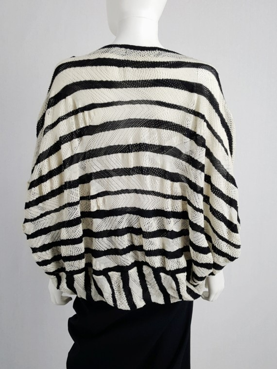 vintage Junya Watanabe beige and black striped bubble jumper AD fall 2009 134230