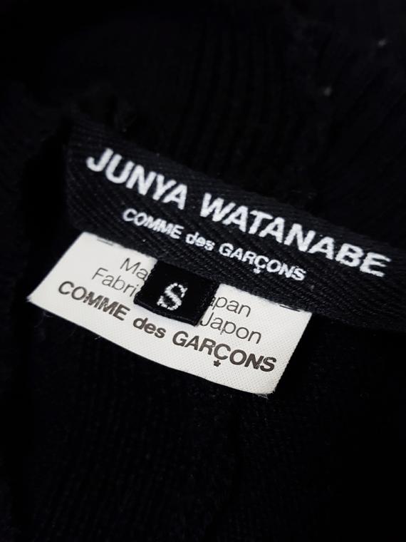 vintage Junya Watanabe black twisted jumper fall 2007 165920