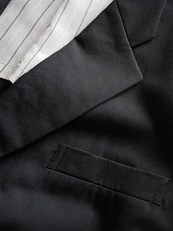 vintage Comme des Garcons Homme black belted blazer AD 1994 123429