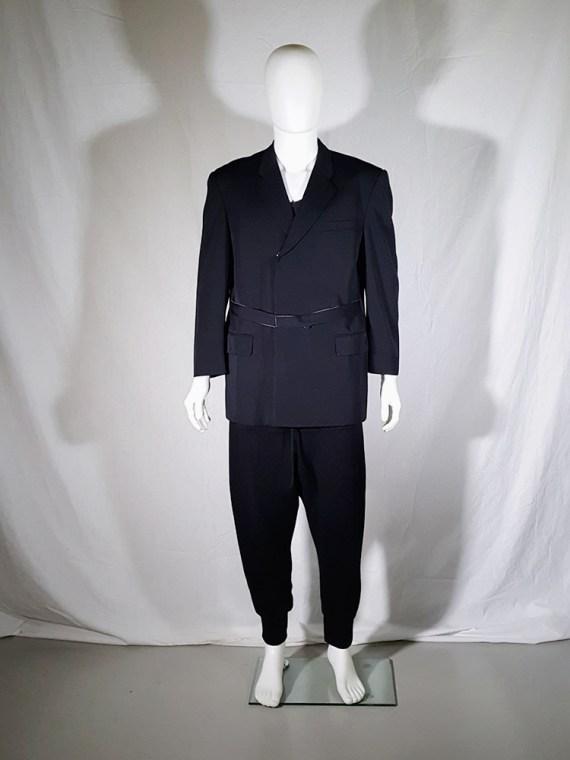 vintage Comme des Garcons Homme black belted blazer AD 1994 180330