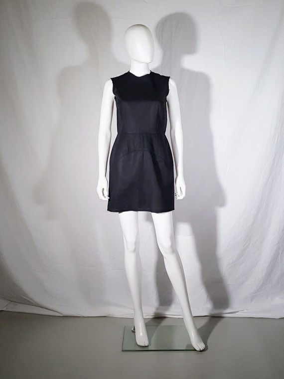 vintage Comme des Garcons black dress with padded hips fall 1998 182216