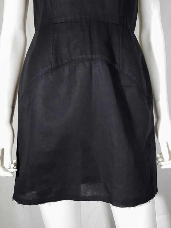 vintage Comme des Garcons black dress with padded hips fall 1998 182256