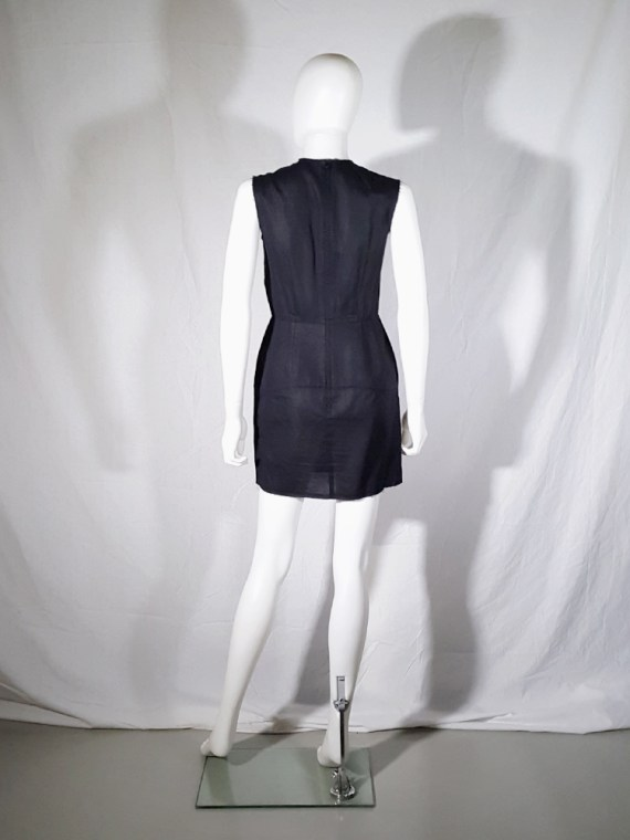 vintage Comme des Garcons black dress with padded hips fall 1998 182349