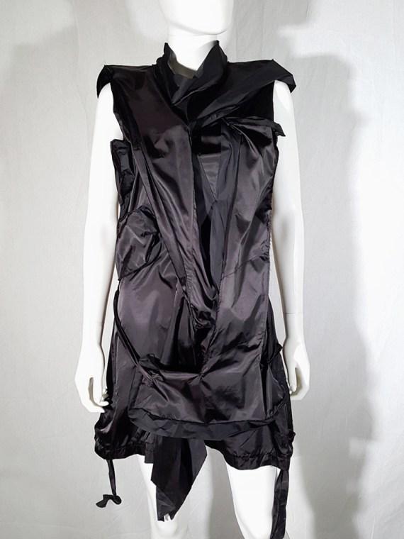 vintage Issey Miyake black dress with 3D block panels 181409