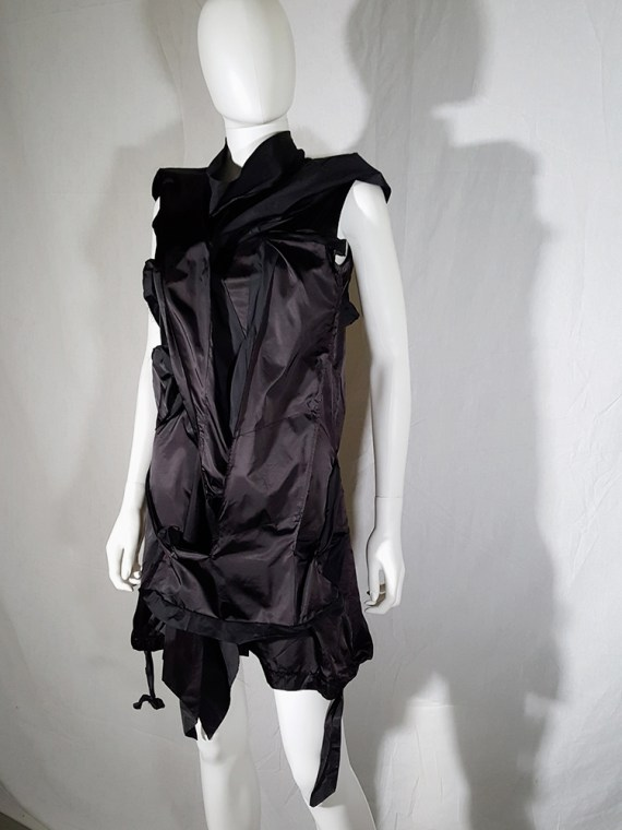 vintage Issey Miyake black dress with 3D block panels 181500