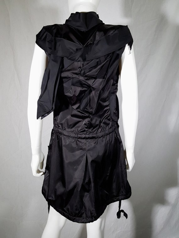 vintage Issey Miyake black dress with 3D block panels 181720