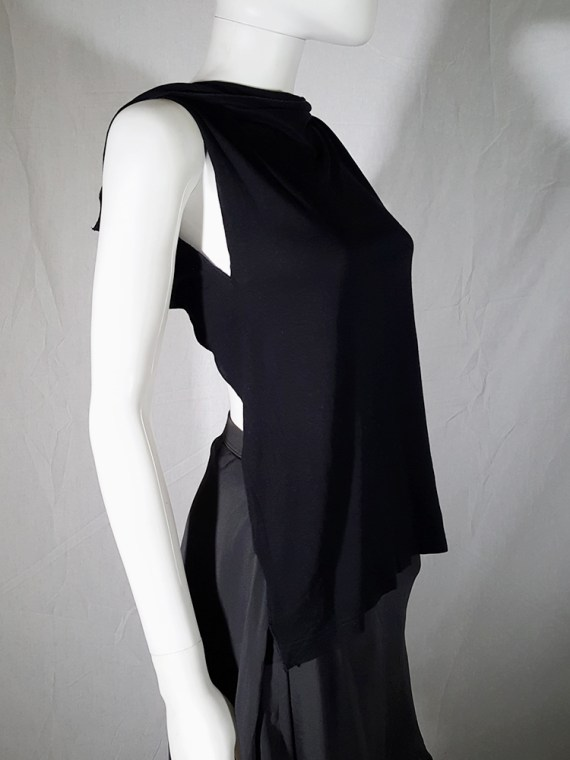 vintage Maison Martin Margiela black backless top spring 2004 183026