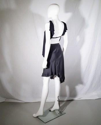 Maison Martin Margiela black backless top — spring 2004