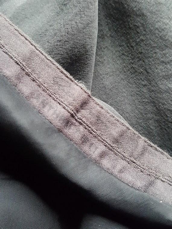 vintage Rick Owens ANTHEM grey asymmetric draped skirt spring 2011 14560