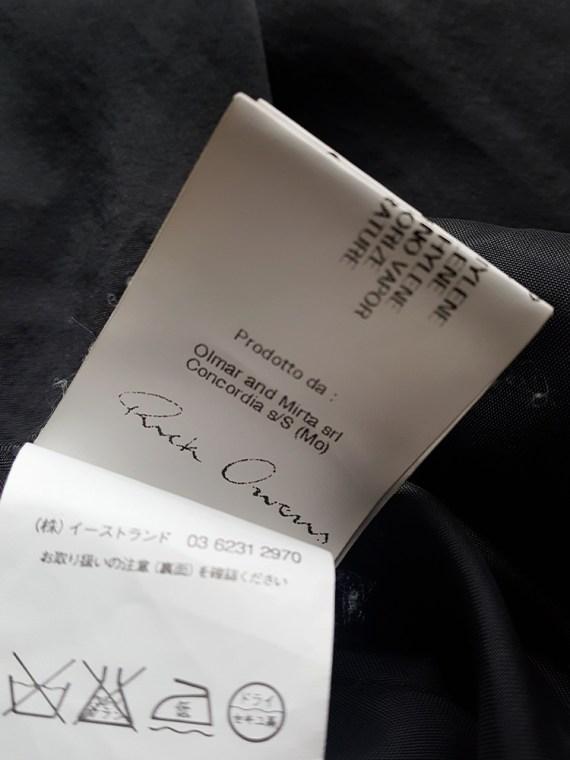vintage Rick Owens ANTHEM grey asymmetric draped skirt spring 2011 145656