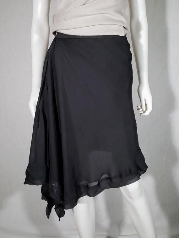 vintage Rick Owens ANTHEM grey asymmetric draped skirt spring 2011 155144