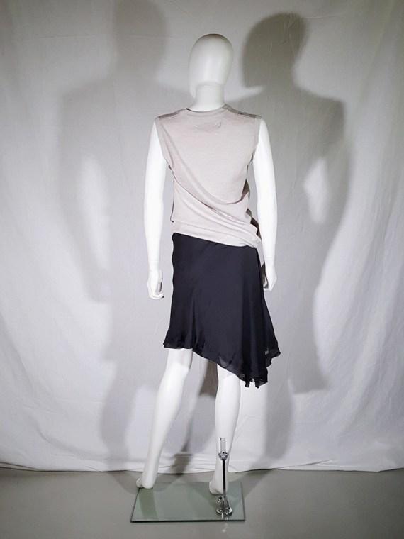 vintage Rick Owens ANTHEM grey asymmetric draped skirt spring 2011 155347
