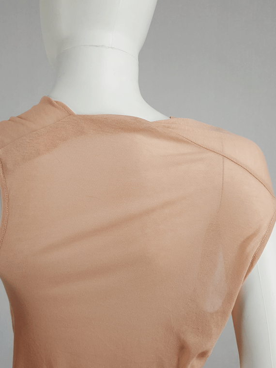 vintage Ann Demeulemeester orange asymmetric draped top 124615
