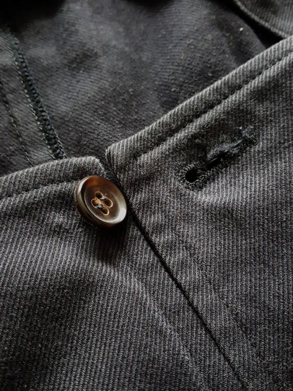 vintage Comme des Garçons black waistcoat spring 1987 121719