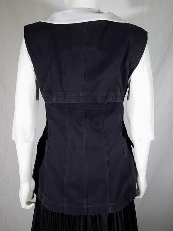 vintage Comme des Garçons black waistcoat spring 1987 171626
