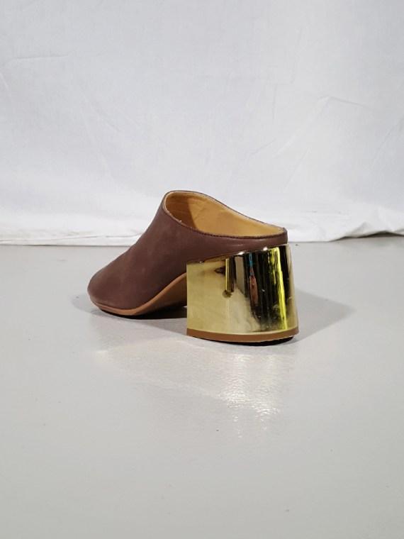 vintage Maison Martin Margiela MM6 brown mules with gold block heel spring 2017 182344