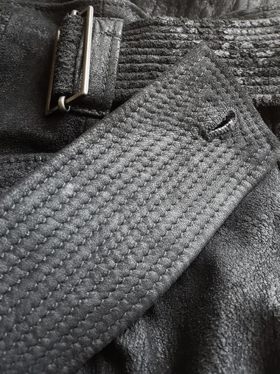 vintage Haider Ackermann black leather wrap skirt spring 2011 154133