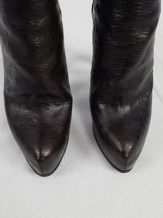 vintage Haider Ackermann brown ankle boots with back zipper fall 2010 102326