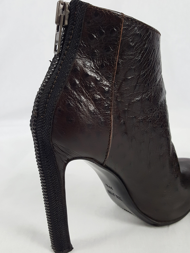 vintage Haider Ackermann brown ankle boots with back zipper fall 2010 102408