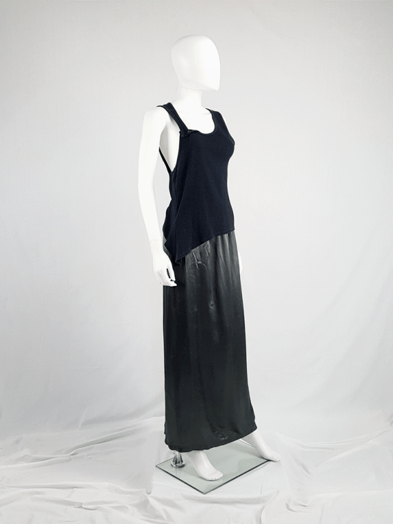 vintage Maison Martin Margiela black asymmetric stretched out top fall 2006 100659