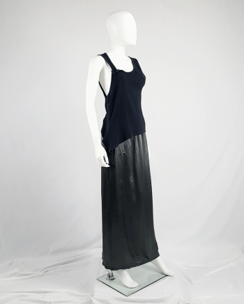 Maison Martin Margiela black asymmetric stretched out top — fall 2006
