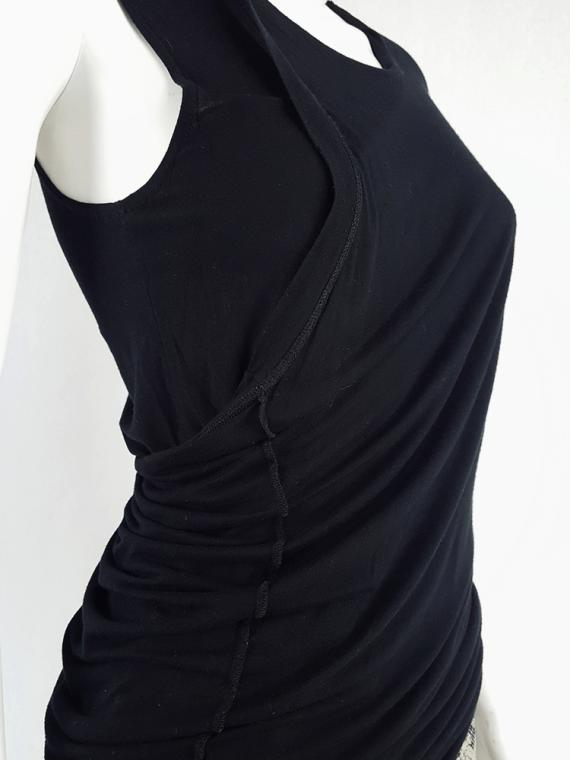 vintage Maison Martin Margiela black dress double folded as top spring 2003 184518