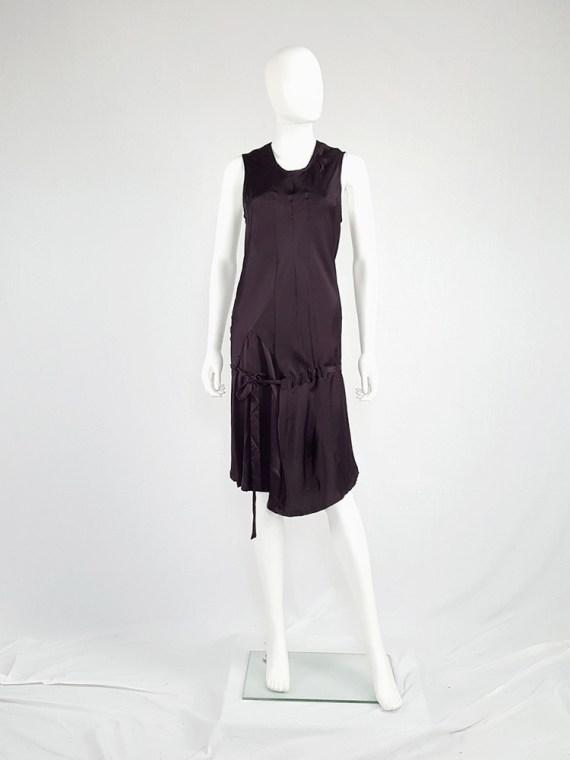 vintage Ann Demeulemeester purple belted dress fall 2003 135020