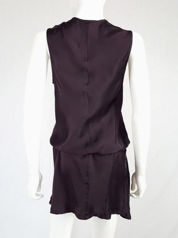 vintage Ann Demeulemeester purple belted dress fall 2003 135524