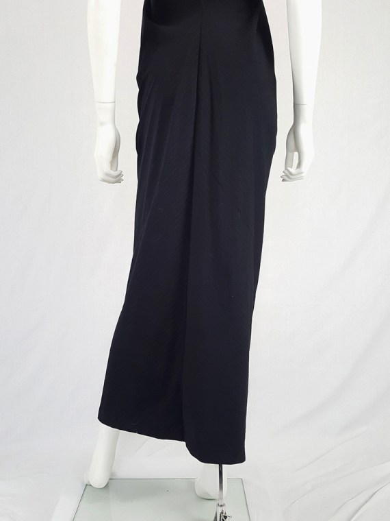 vintage Comme des Garcons robe de chambre black deformed maxi dress AD 1999 104733