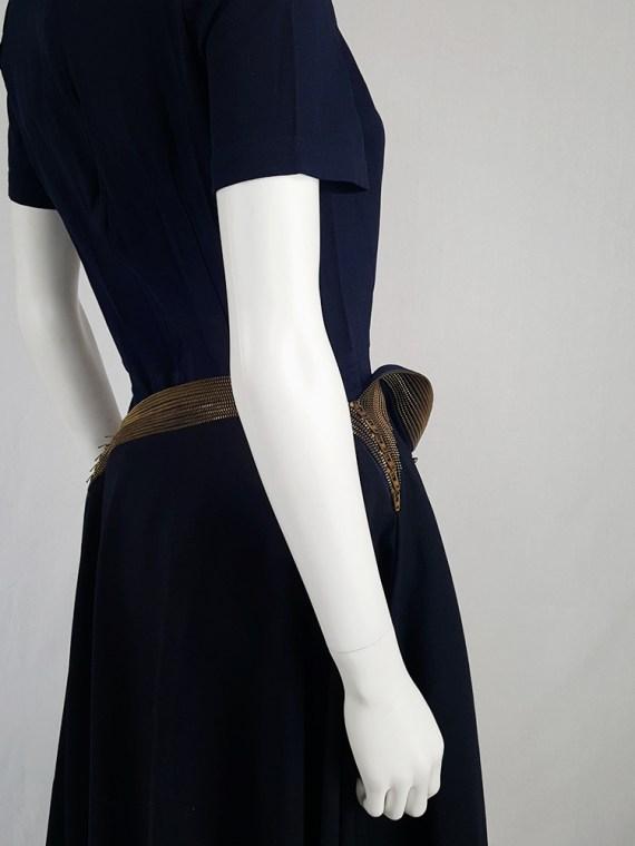 vintage Junya Watanabe blue asymmetric skirt with multi zipper waist spring 2005 111711