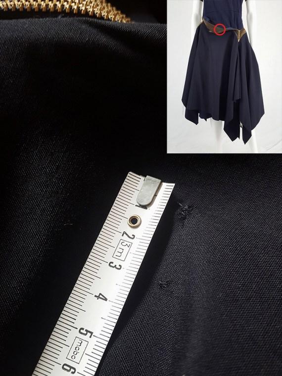 vintage Junya Watanabe blue asymmetric skirt with multi zipper waist spring 2005 114514