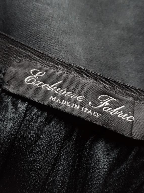 Maison Martin Margiela black deconstructed skirt in furniture lining — spring 2004