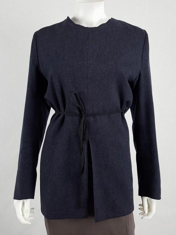 vintage Maison Martin Margiela grey felt backwards blazer fall 1994 200222