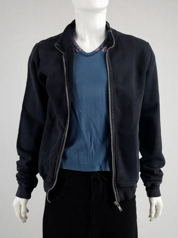 vintage Rick Owens DRKSHDW black zipper sweatshirt 112008
