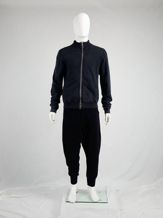 vintage Rick Owens DRKSHDW black zipper sweatshirt 112100