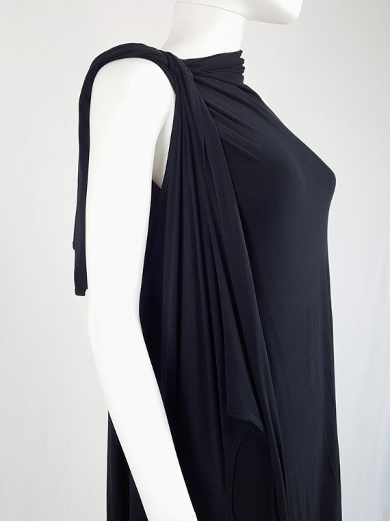 vintage Ann Demeulemeester black triple wrapped dress with 5 armholes spring 1998 091209