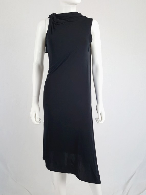 vintage Ann Demeulemeester black triple wrapped dress with 5 armholes spring 1998 091341(0)