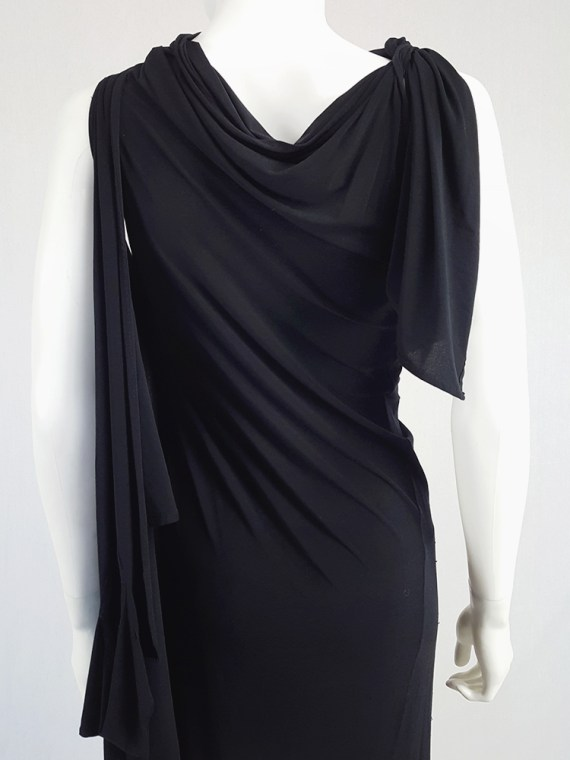 vintage Ann Demeulemeester black triple wrapped dress with 5 armholes spring 1998 092122