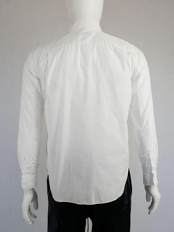 vintage Comme des Garcons Homme Plus white shirt with hanging dolls spring 2010 120229(0)