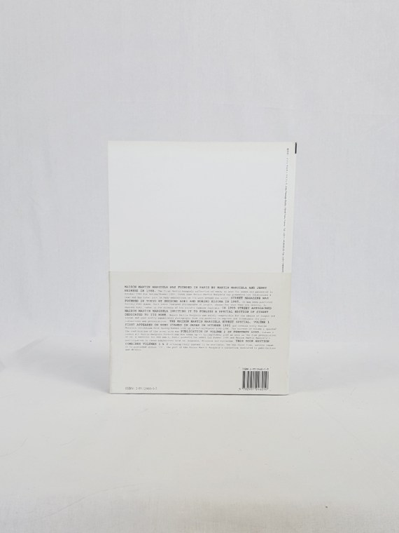vintage Maison Martin Margiela 13 STREET book special edition volumes 1 and 2 november 1999 110104