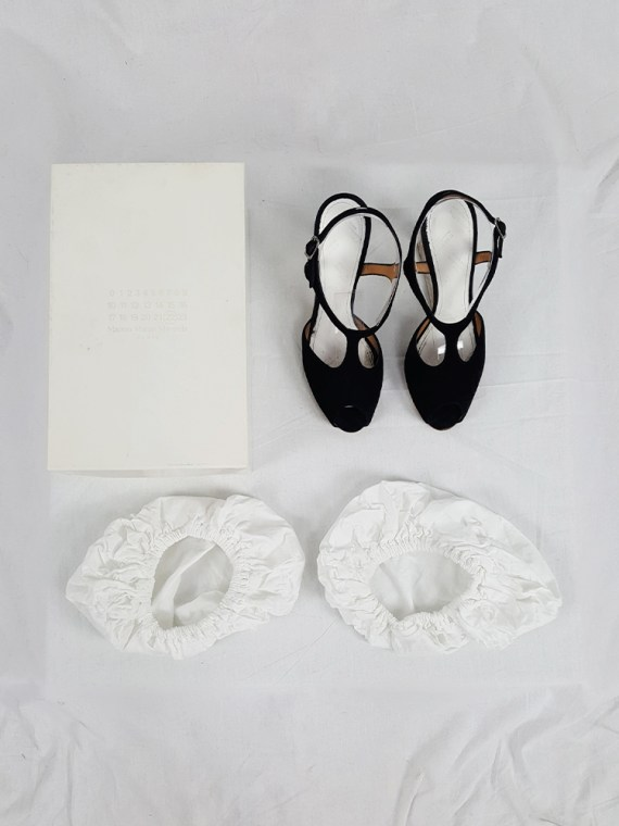 vintage Maison Martin Margiela black sandals with clear heels spring 2007 195032